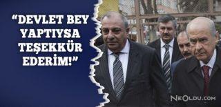 Kabine Dışı Kalan Tuğrul Türkeş'ten Açıklama