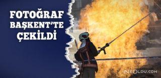 Başkent'te Doğal Gaz Borusu Patladı