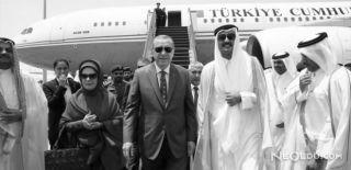 Cumhurbaşkanı Erdoğan'ı Katar Emiri Karşıladı