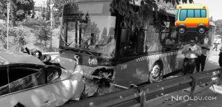 Freni Boşalan Halk Otobüsü 10 Araca Çarptı!