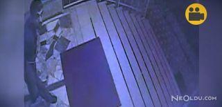 Kameraları Gören Hırsız Böyle Şaşırdı!