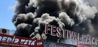 Antalya Festival Çarşısı'nda Yangın!