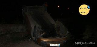 Araç Sulama Kanalının Üzerine Düştü: 1 Ölü
