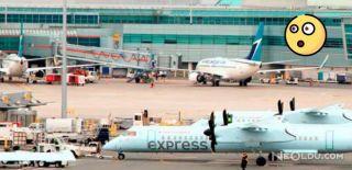 Havalimanında Yolcu Uçakları Çarpıştı