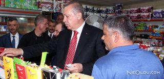 Cumhurbaşkanı Erdoğan Markette Alışveriş Yaptı