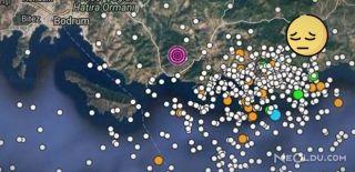 Bodrum'da 4.8 Şiddetinde Deprem Meydana Geldi