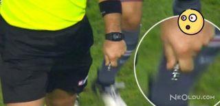 Süper Kupa'da Sahaya Bıçak Fırlatan Kişi Yakalandı