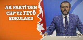 Ak Parti'den CHP'ye FETÖ Sorusu