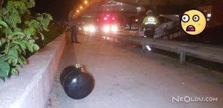 Kazanın Şiddetiyle LPG Tüpü Araçtan Fırladı!