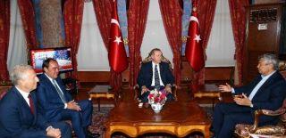 Demirören ve Lucescu'dan Cumhurbaşkanına Ziyaret