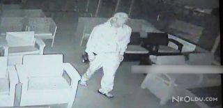 Kafeden Televizyon Çalan Hırsızın Görüntüleri