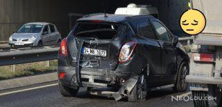 Meraklı Sürücüler Zincirleme Kaza Yaptı