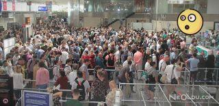 Atatük Havalimanı'nda Bayram Yoğunluğu