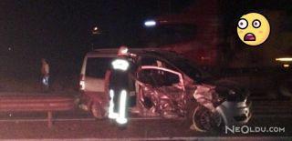 Malatya'da İki Araç Kafa Kafaya Çarpıştı