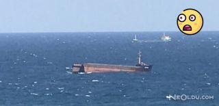 Kilyos'da Bulunan Gemi Ortadan İkiye Ayrıldı