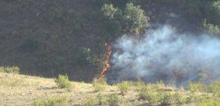 Susuz Şelalesi'nde Yangın Çıktı