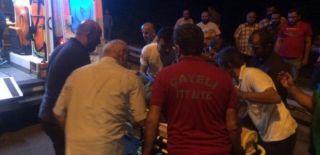 Rize'de Otomobil Uçurumdan Yuvarlandı