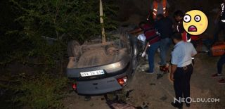 Kazada Araç Takla Atarak Dereye Uçtu!