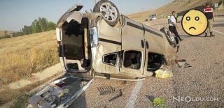 Otomobil Takla Attı! 1 Ölü 5 Yaralı