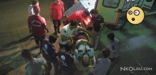Kadın Zanlının Peşinden Atlayan Polis Yaralandı