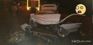 Üç Aracın Karıştığı Feci Kazada 2 Kişi Öldü!