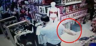 Mağazadan Cep Telefonu Çalan Hırsızın Görüntüleri