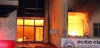 Yozgat'ta Bir İş Hanında Yangın Çıktı