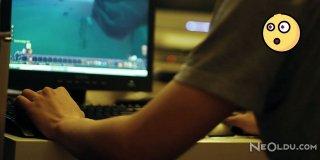 Saatlerce Bilgisayar Oynayan Genç Bacaklarından Oluyordu