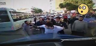 Polisin Minibüsçüye Kafa Atması Kamerada