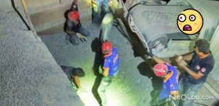 Döktüğü Çakıl Haznesine Düşen Kamyon Şoförü Öldü