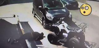 Pendik'te ATV Sürücüsü Ölümden Döndü