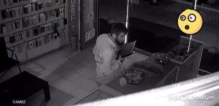 Hırsızlar Süzüle Süzüle Dükkan Soydu