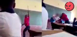 Kıyafetini Çıkarıp Öğrencisine Tekme Tokat Daldı!