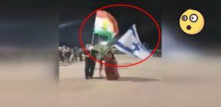 IKBY Referandum Propagandasında İsrail Bayrağı