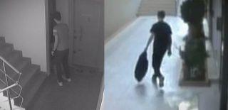 30 Dakikada Binaya 2 Kez Giren Hırsızların Görüntüleri
