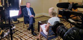 Erdoğan'dan ABD'li Muhabire Terörist Uyarısı