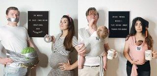 Hamileliği Komik Fotoğraflarla Anlatan Anne