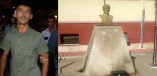 Adana'da Atatürk Büstüne Molotof Atan Şahıs Tutuklandı