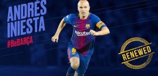 """Barcelona, Iniesta ile """"Ömür Boyu"""" Sözleşme İmzaladı"""