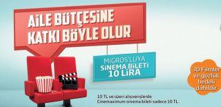 Migros Sinema ve Cinemaximum Kampanyası