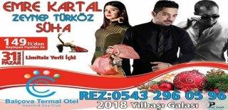 2018 Yılbaşı Programı İzmir Balçova Termal Otel Emre Kartal Konseri