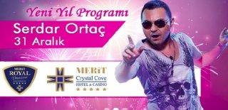 2018 Yılbaşı Programı Kıbrıs Merit Crystal Cove Hotel Serdar Ortaç Konseri