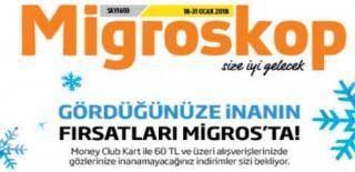 18 Ocak - 31 Ocak 2018 Migroskop Aktüel ve Migros Kampanyalı İndirim Kataloğu