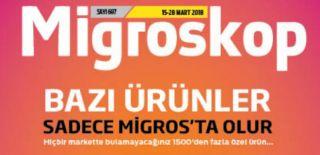 15 Mart - 28 Mart 2018 Migroskop Aktüel ve Migros Kampanyalı İndirim Kataloğu