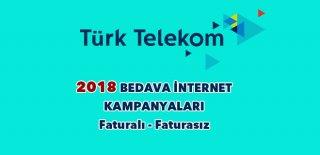 Türk Telekom Bedava İnternet Kampanyaları 2018-2019