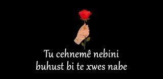 En Güzel Kürtçe Sözler, Kürtçe Aşk Sözleri