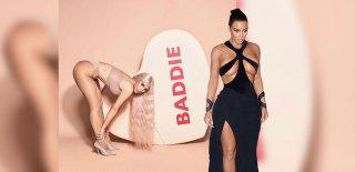 Kim Kardashian Derin Yırtmacıyla Bacaklarını Sergiledi