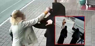 Adana'da Tesettürlü Kadına Çirkin Saldırı!