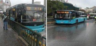 Kontrolden Çıkan Özel Halk Otobüsü Bariyerlere Çarptı: 10 Yaralı