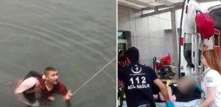 Canına Kıymak İçin Fırat Nehrine Atlayan Kızı Çevredekiler Kurtardı